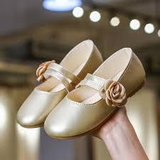 <b>SKHEK</b> White Pink Gold <b>Kids Baby</b> Flower Shoes <b>Children</b> Wedding ...