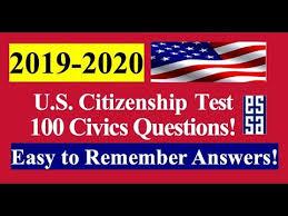 <b>100</b> Civics Questions for the U.S. Citizenship <b>Test</b> - Easy Answers ...