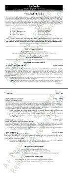 education resume sample physical education resume sample