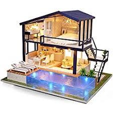 Q5 3D <b>Wooden Miniature</b> House Fsolis <b>DIY Dollhouse Miniature</b> Kit ...