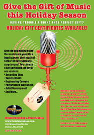 bristol recording studios holiday gift certificates available what better present than a gift certificate offering studio time engineering courses artist development and private
