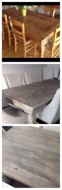 hardware dining table exclusive: diy restoration hardware finish craigslist table stripped sanded bleached i used