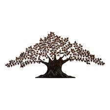 tree scene metal wall art: woodland imports  in w x  in h frameless metal tree d wall