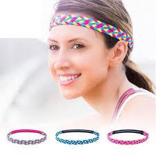 Yoga <b>fitness headband</b> women's sweat-absorbent non-slip woven ...