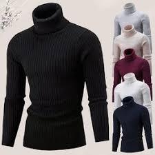 Turtleneck Sweaters Autumn Winter Men's High Collar ... - Vova