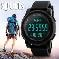 <b>HONHX Men's Sports</b> Watch LED 3Bar Waterproof Digital Quartz ...