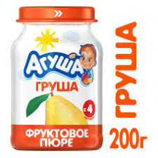 <b>Пюре фруктовое Агуша</b> Груша 200гр стекло ВБД