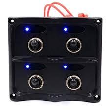 waterproof 8 gang switch panel 12v 24v car auto boat marine yacht red led light on off rocker circuit breaker