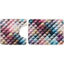 <b>Набор ковриков для ванной</b> комнаты Bubble цвет мультиколор в ...