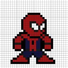 Spider-Man Homecoming Perler Bead Pattern | Пиксель арт ...