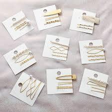 <b>Minimalist Korean</b> Style Vintage Bobby Pins Women Metallic Gold ...