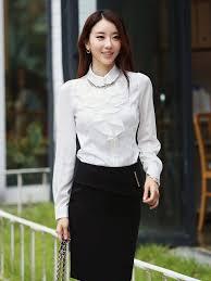 Mẫu áo sơ mi trắng nữ cách điệu Hàn Quốc đẹp nha!!!