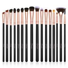 5 pcs eye makeup brushes set eyeshadow eyebrow concealer brush travel portable holder cylinder professional tool kit