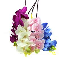 day orchid decor: artificial butterfly orchid silk flower home wedding party decor phalaenopsis