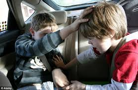 Image result for images of three kids in car arguing
