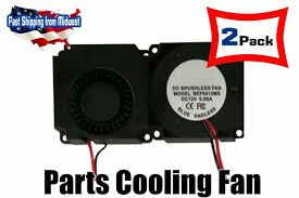 eBay #Sponsored 2 <b>4010</b> Cooling Fan For <b>3D Printer Parts</b> DC 12V ...