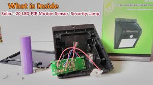 What's inside for Solar-20 <b>LED PIR Motion Sensor</b> Waterproof ...