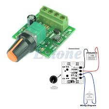DC 1.8V <b>3V 5V</b> 6V 12V 2A <b>Low Voltage</b> Motor Speed Controller ...