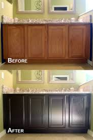 Diy Staining Kitchen Cabinets Diy Painting Stained Kitchen Cabinets Awsrxcom