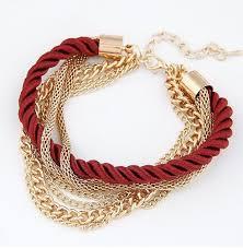 <b>Bohemian Temperament</b> Woven Gold Color Chain Braided Rope ...