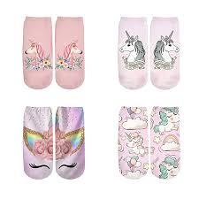 PLstar Cosmos Harajuku 3D Print Unicorn Socks ... - Amazon.com