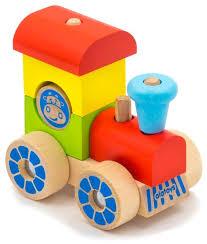 Купить <b>Каталка</b>-игрушка Alatoys <b>Паровозик</b> (ККП02) красный ...