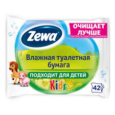 <b>Влажная туалетная</b> бумага ZEWA KIDS <b>Детская</b>, 42 шт — купить ...