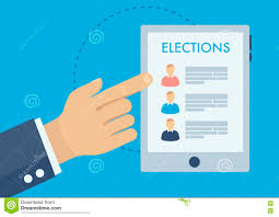 voting advice application choosing candidate stock vector image voting advice application choosing candidate