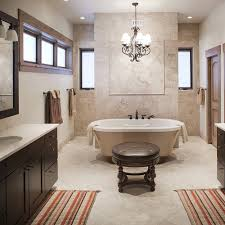 full custom bathroom with claw foot tub custom lighting and his and hers sinks bathroomexquisite images kitchen lighting