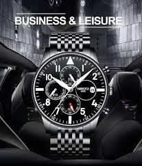 Mens Watches <b>NIBOSI</b> Waterproof Quartz Business Men Watch Top ...