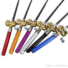 Fishing Rod Bobing <b>Portable</b> Pen Shape For <b>Pocket Telescopic Mini</b> ...
