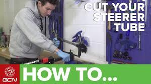 How To <b>Cut</b> A Road <b>Bike</b> Steerer <b>Tube</b> - YouTube