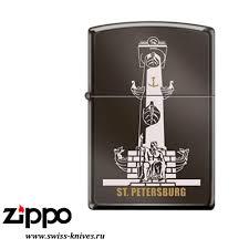 <b>Зажигалка</b> широкая <b>Zippo</b> Classic <b>Ростральная</b> колонна Black Ice ...