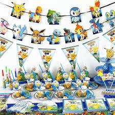 Hot Anime <b>Pokemon</b> Go <b>Pikachu</b> Theme Party Decorations For Kids ...