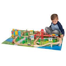 Squirrel Play <b>80 Piece Wooden</b> Train set - Squirrel Play <b>Toys</b> ...