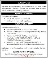 quantity surveyor swim holdings pvt latest vacancies in sri quantity surveyor best job site in sri lanka lk