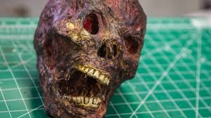 How To Make a Realistic <b>Horror</b> Skull <b>Prop</b>! - YouTube