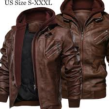 <b>Mens</b> PU Leather <b>Spring Autumn</b> Thin Jacket Motorcycle Biker ...