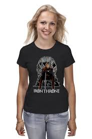 <b>Футболка классическая Iron</b> Throne #1120313 – заказать женские ...