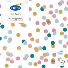 Купить <b>Салфетки бумажные Duni</b> Dream Dots 3 слоя 24*24см ...