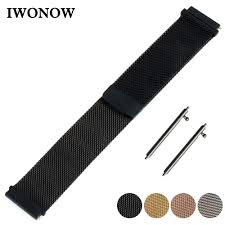 <b>Milanese</b> Stainless Watch Band 16mm <b>18mm 20mm 22mm</b> for ...
