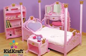 kidkraft princess childrens bedroom set 4pc bed room sets kids