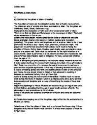 five pillars of islam essay   gcse religious studies  philosophy    page  zoom in