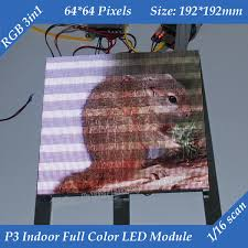 Free shipping 1/16 Scan 3in1 RGB <b>P3 Indoor Full color</b> Advertising ...