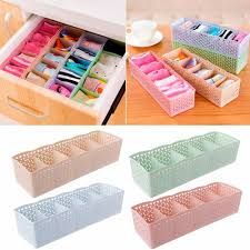 <b>1Pc Plastic</b> Underwear <b>Organizer Storage</b> Box Bra Socks <b>Drawer</b> ...