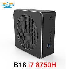 Partaker B18 DDR4 Coffee Lake <b>8th</b> Gen <b>Mini</b> PC <b>Intel Core</b> i7 ...