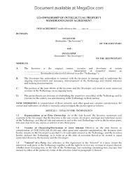 co ownership agreement for intellectual property legal forms and picture of co ownership agreement for intellectual property