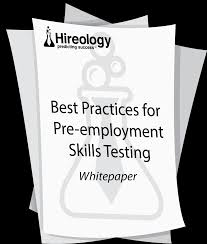 new whitepaper best practices for pre employment skills testing