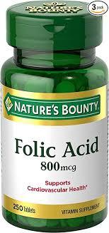 Nature's Bounty Folic Acid Supplement, Supports ... - Amazon.com