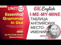 Местоимения в английском языке   OK English